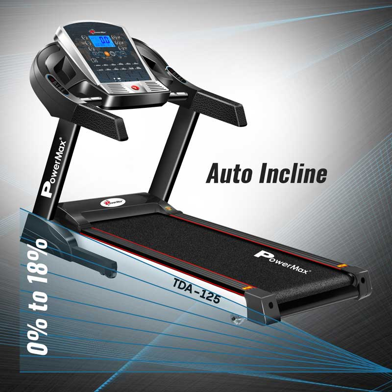TDA-125 Motorised treadmill with auto lubricating