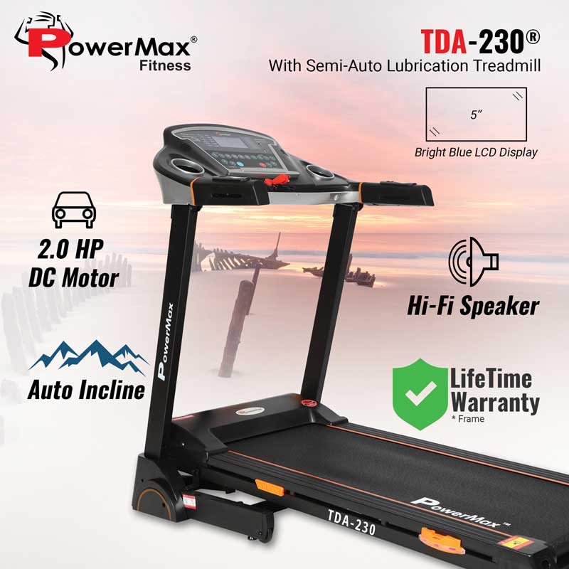 TDA-230 Motorized Treadmill with Auto Lubrication