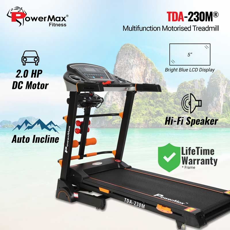 TDA-230M® Multifunction Motorized Treadmill with Auto Lubrication