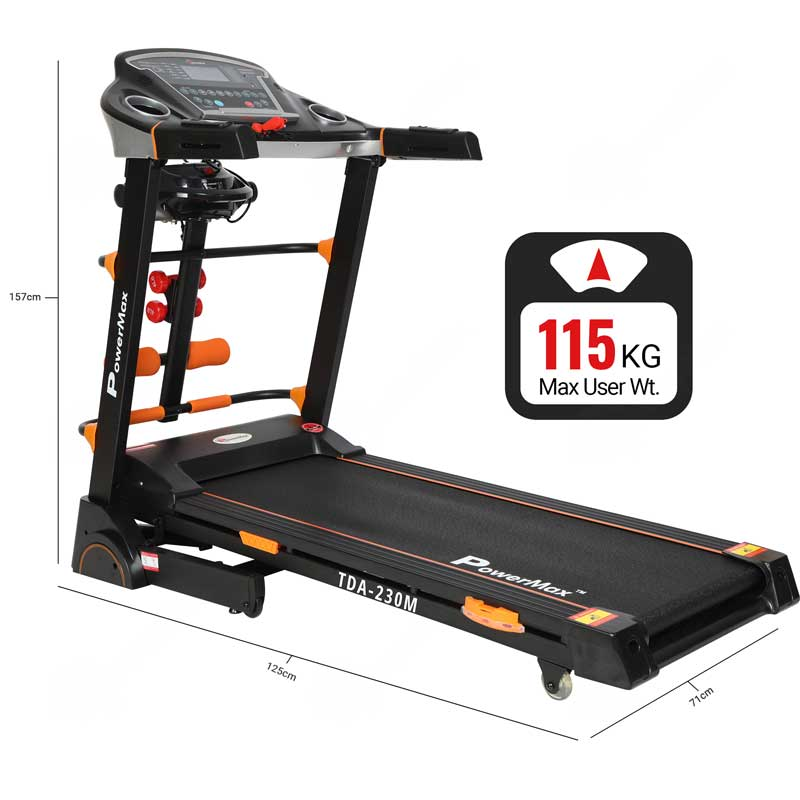 TDA-230M® Multifunction Motorized Treadmill with Semi-Auto Lubrication