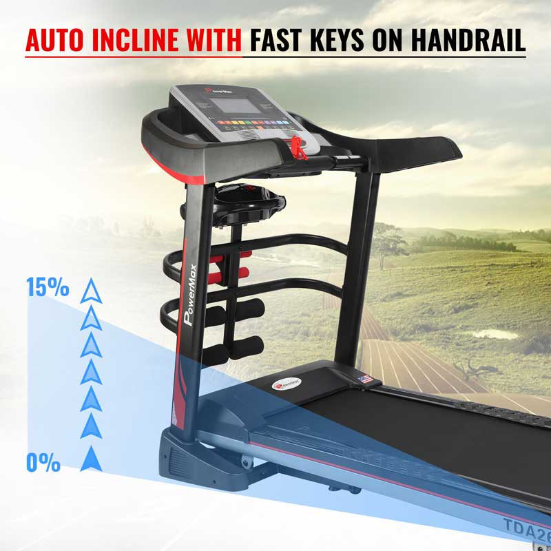 "TDA-260 Multifunction Treadmill with 7"" TFT Color Touch Screen"
