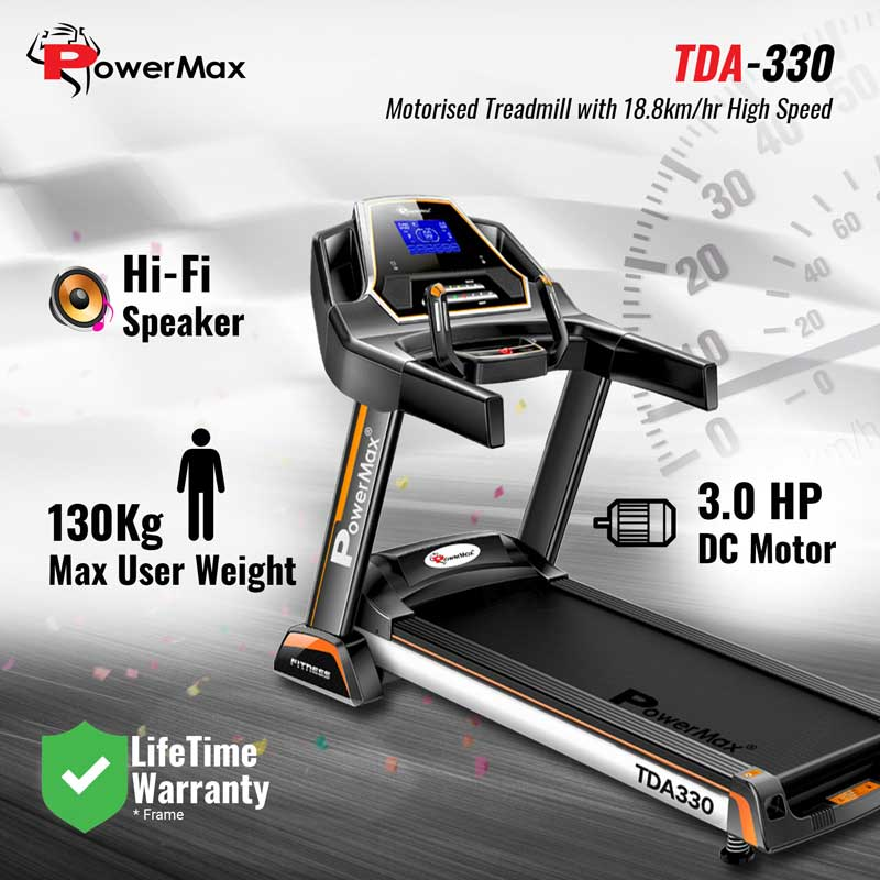 TDA-330 Motorized Treadmill with Auto Incline