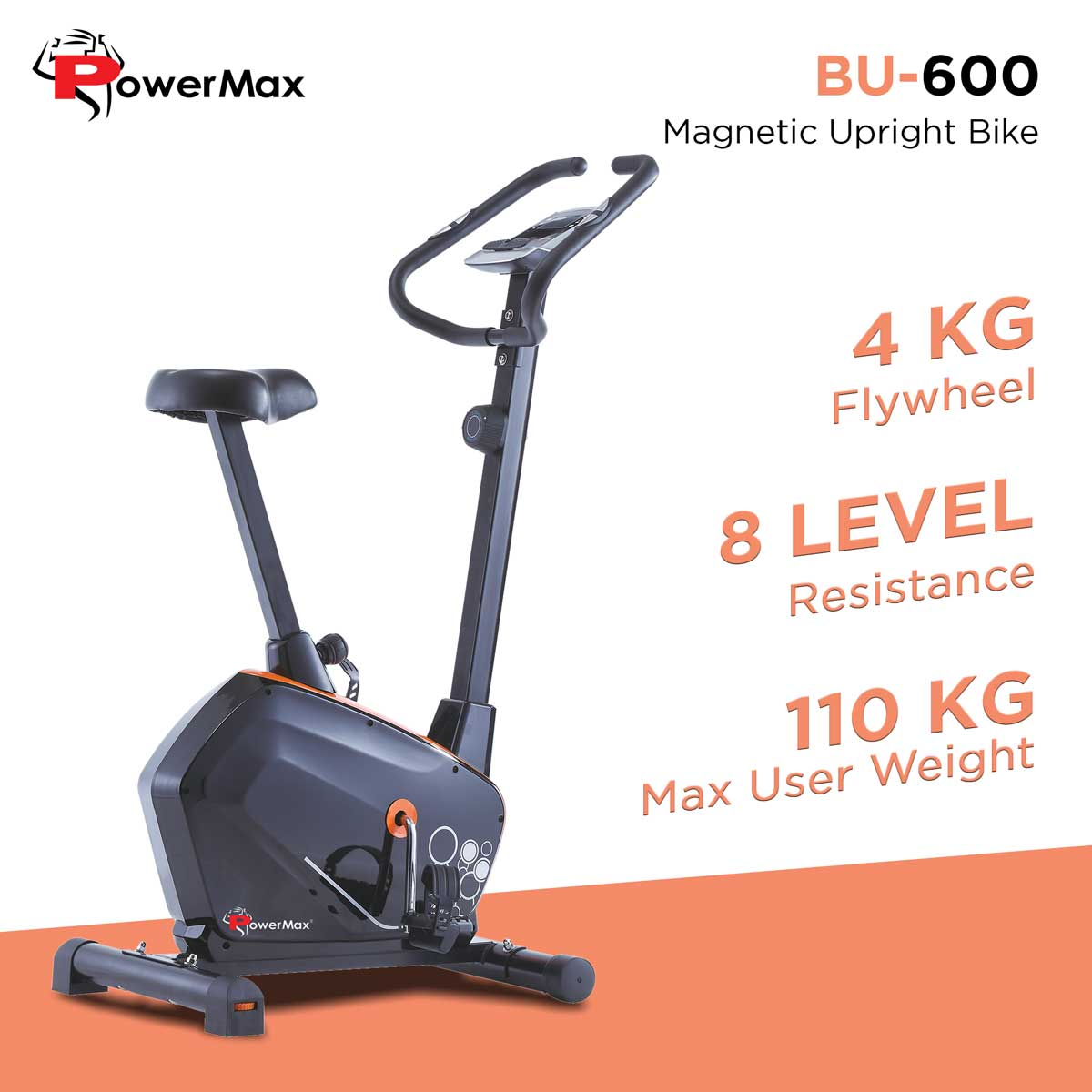 BU-600 Magnetic Upright Bike