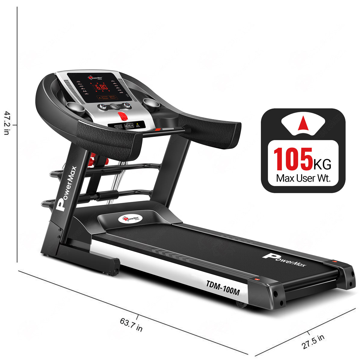 TDM-100M Semi-Auto Lubrication Multifunction Treadmill