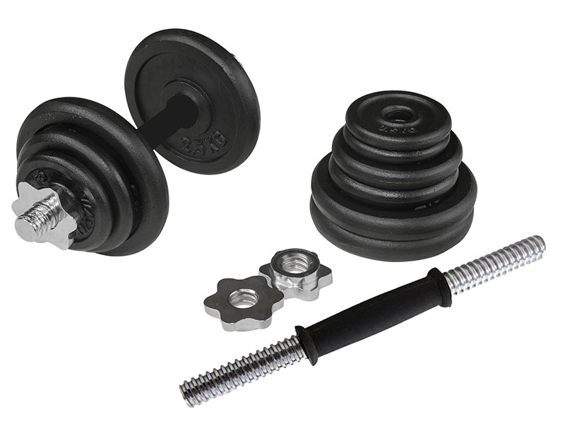 PDS-20Kg Dumbbells Set Metal Plates + Dumbbell Rods Home Gym