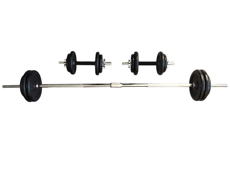 PDS-50Kg Dumbbells Set Metal Plates + Dumbbell Rods Home Gym