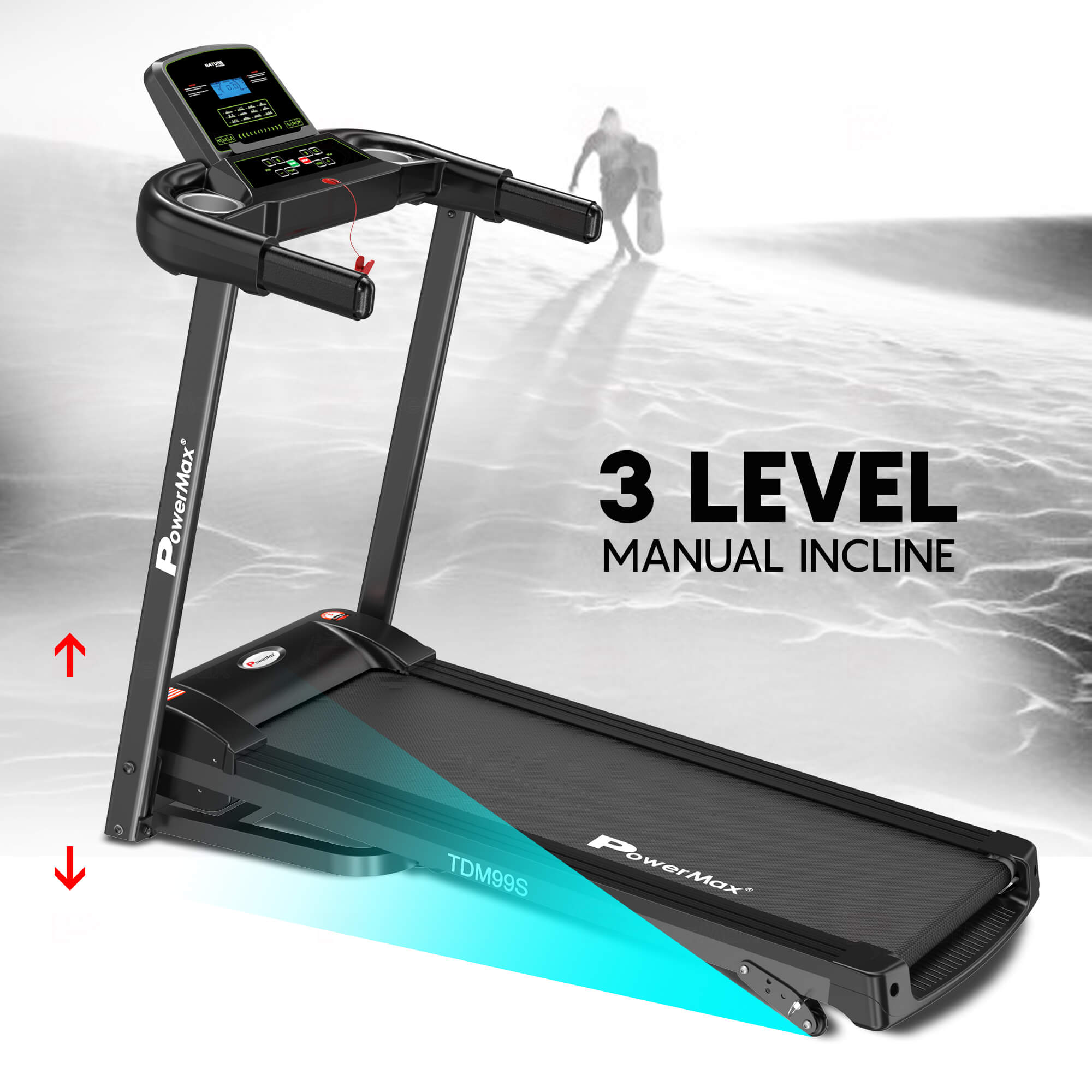 Motorized Treadmill with Twister and Resistance Ropes