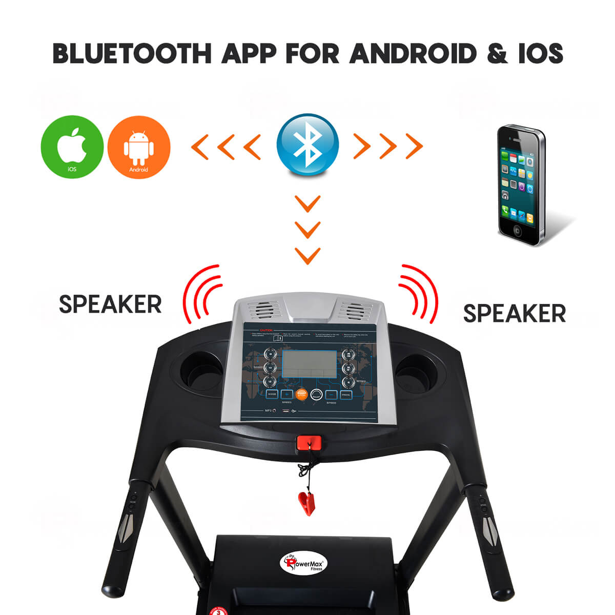 treadmill with Bluetooth app for Android & iOS