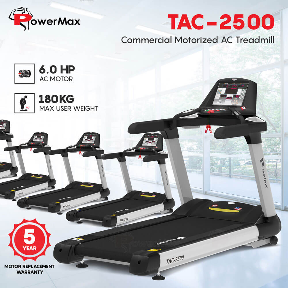 TAC-2500 Commercial Motorized AC Treadmill