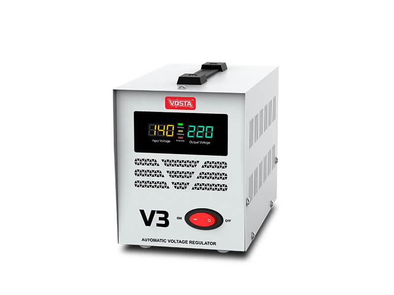 Vosta V3 Stabilizer -  Input: 140~260 VAC & Output: 220 VAC (±8%)