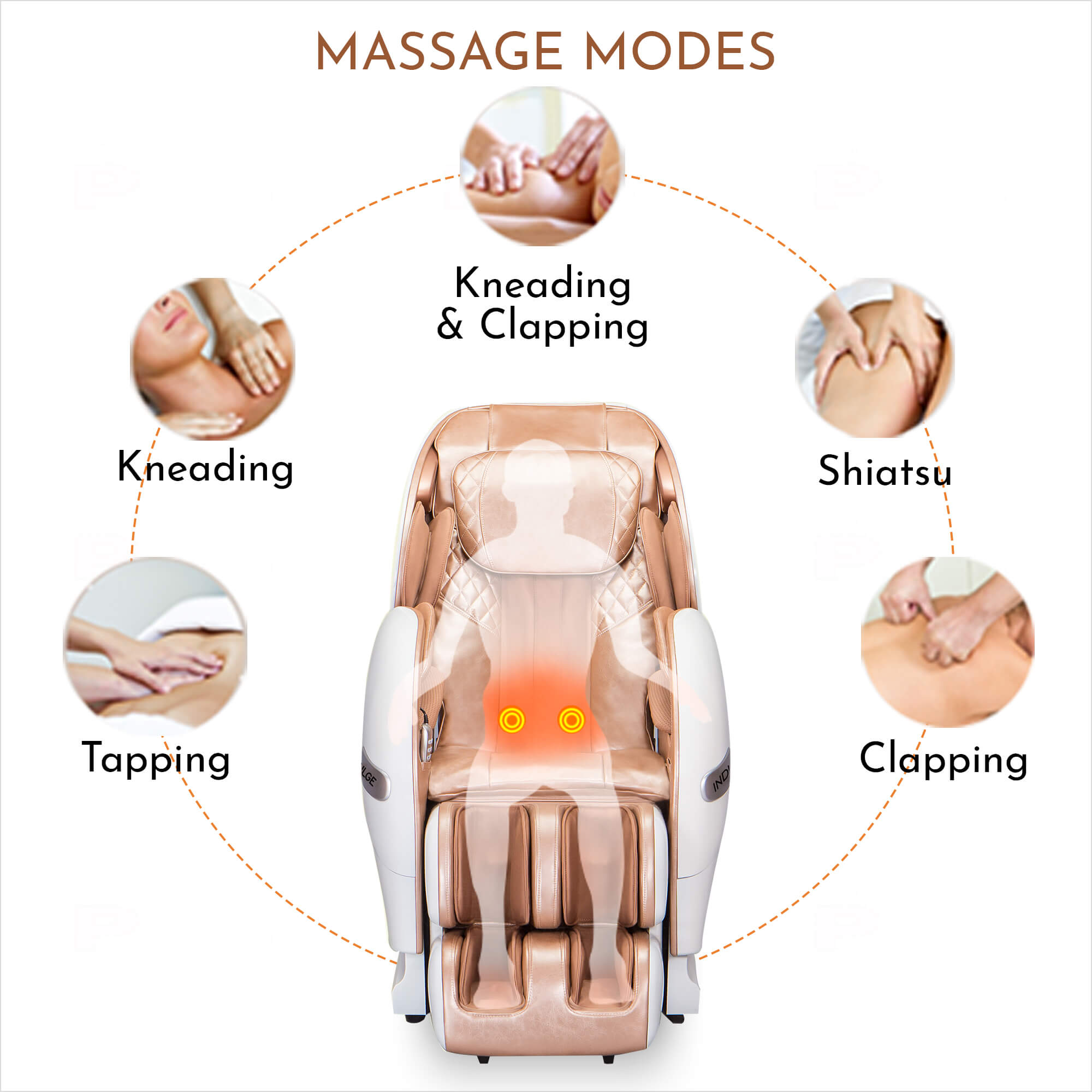 Indulge imOnCloudNine-3 Full Body Massage Chair with UltraThin 3D Massage Technology