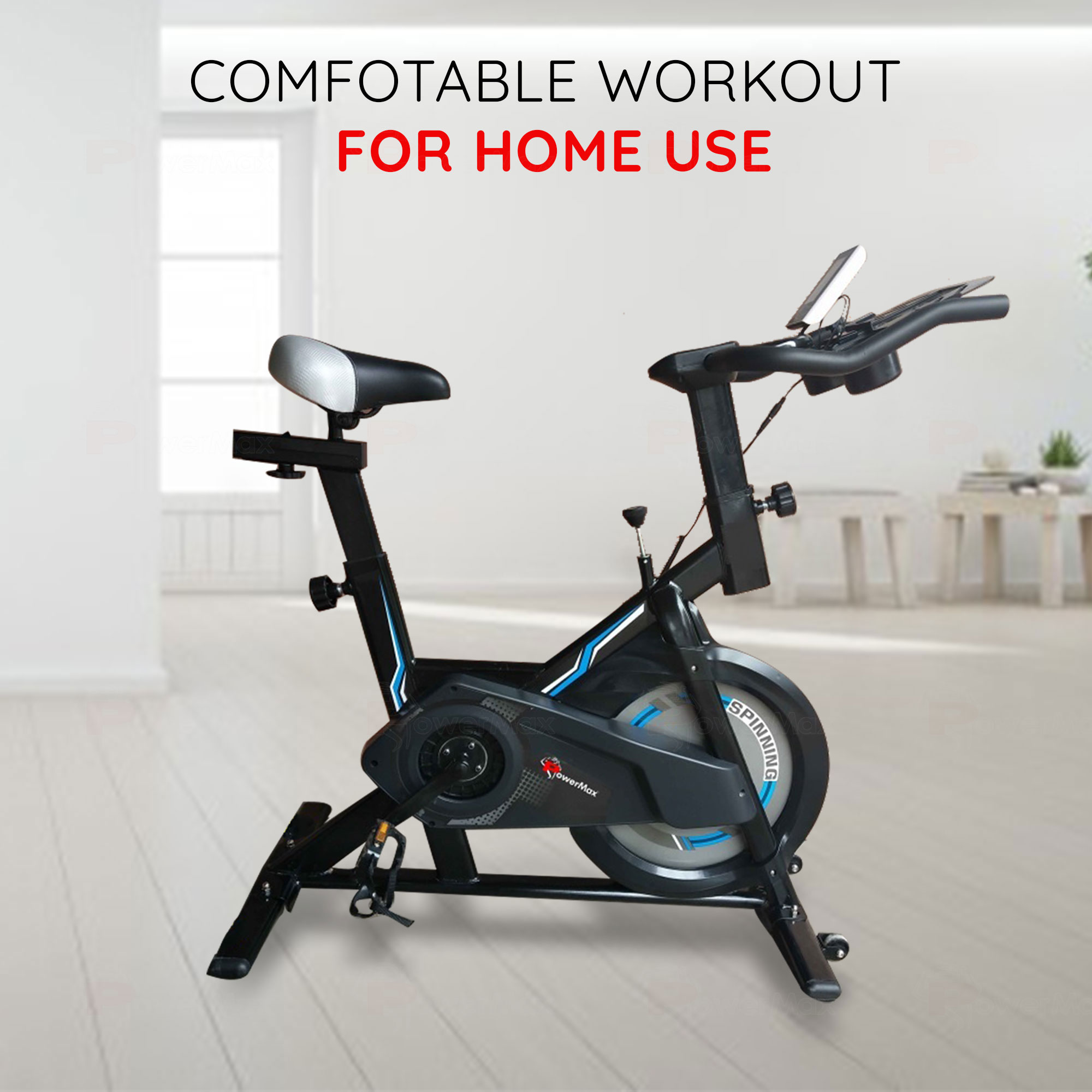 Home Use Spin Bike /Group Bike with iPad & Bottle holder