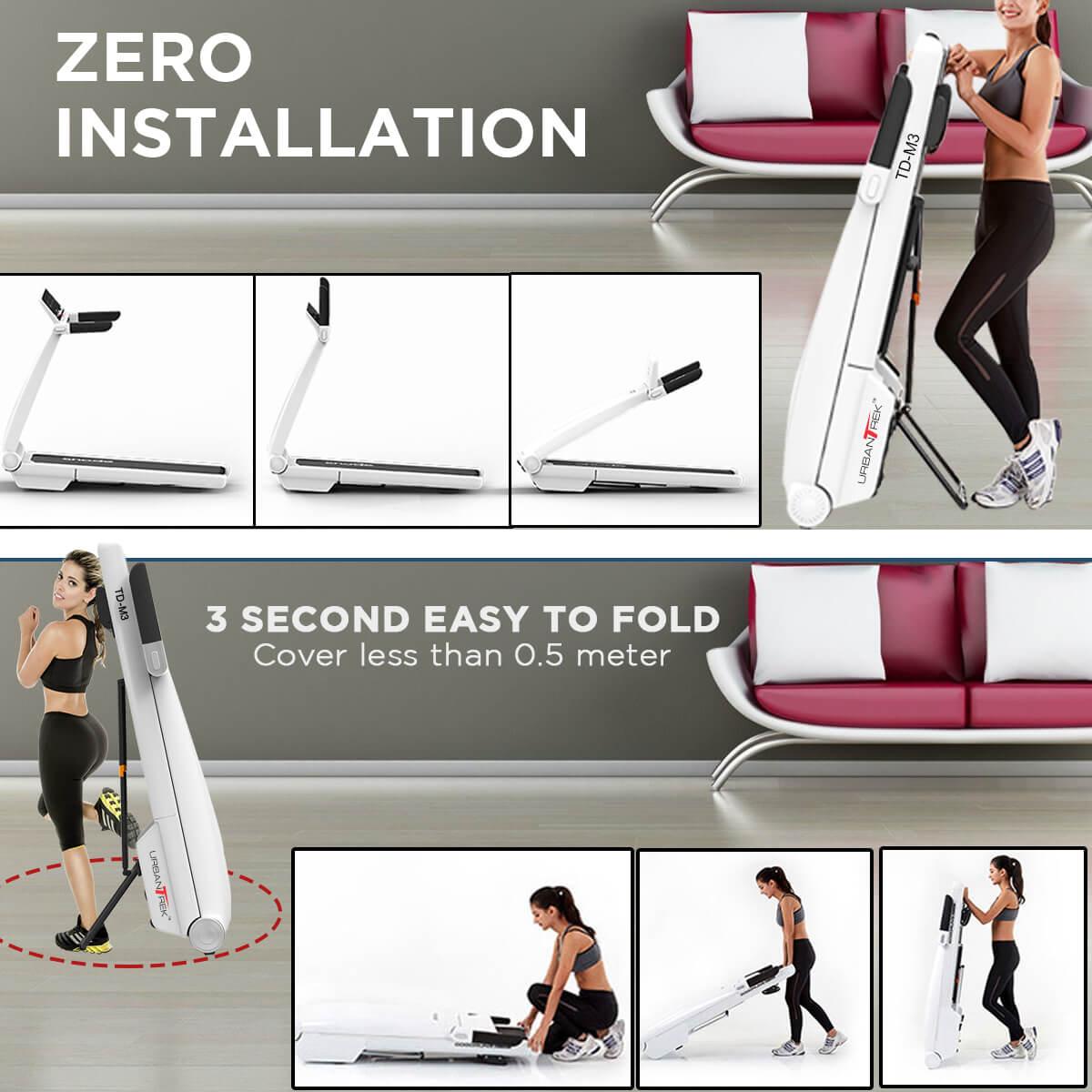 UrbanTrek TD-M3  Motorised Treadmill with Bluetooth Music Function
