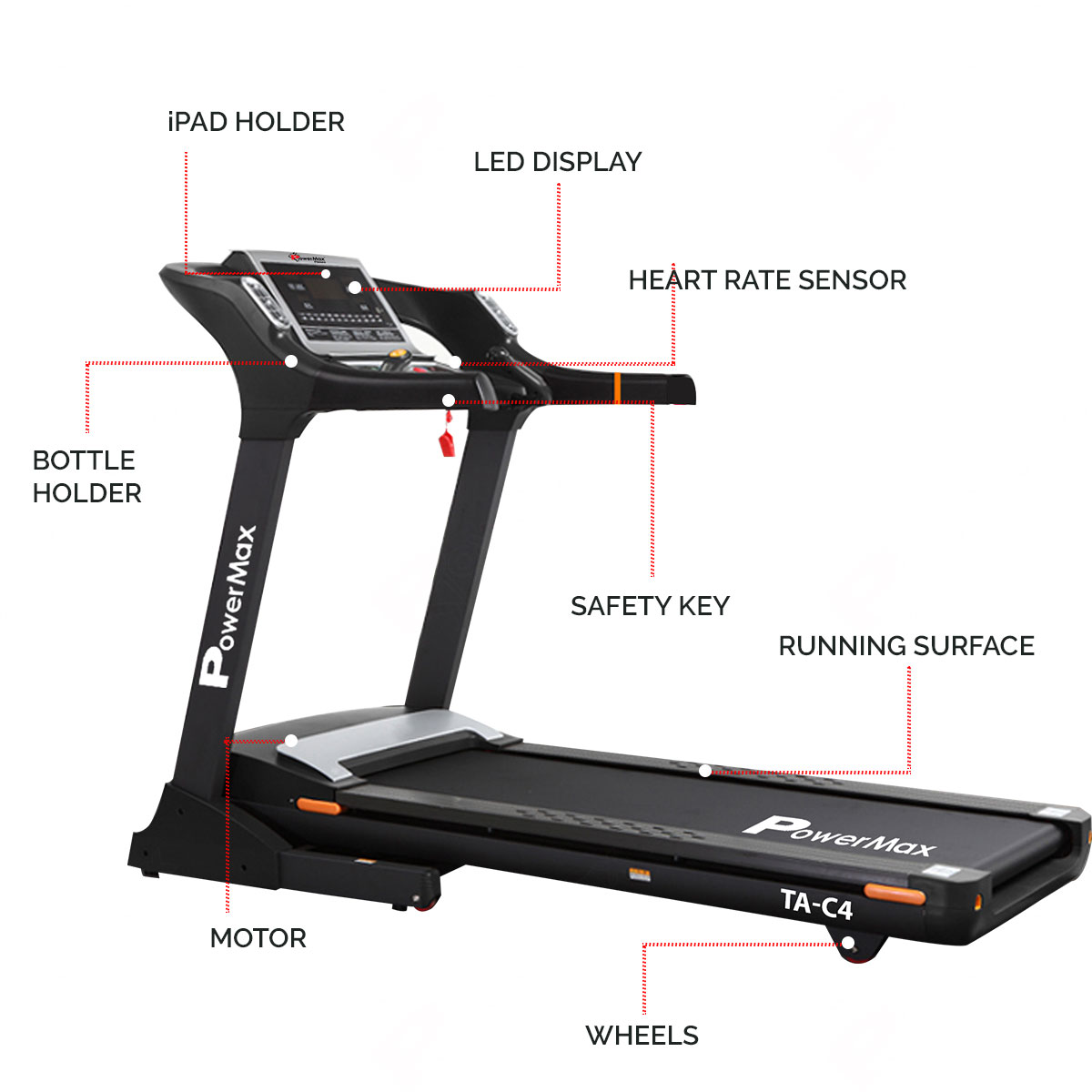 TA-C4 Commercial Motorized AC Treadmill