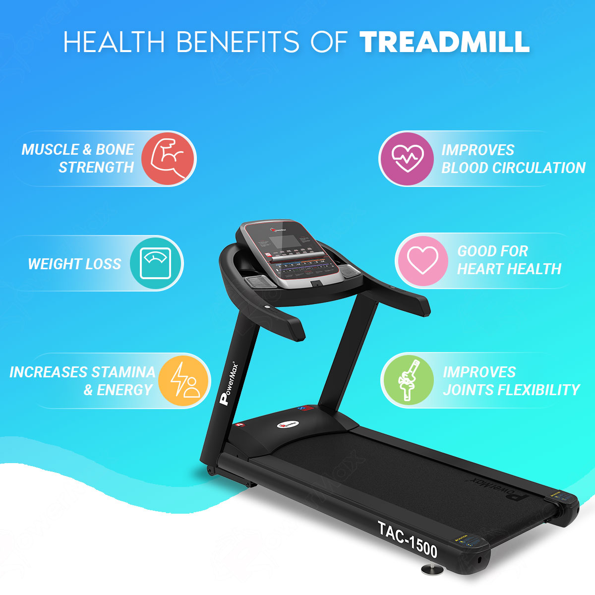TAC-1500 Commercial Motorized AC Treadmill