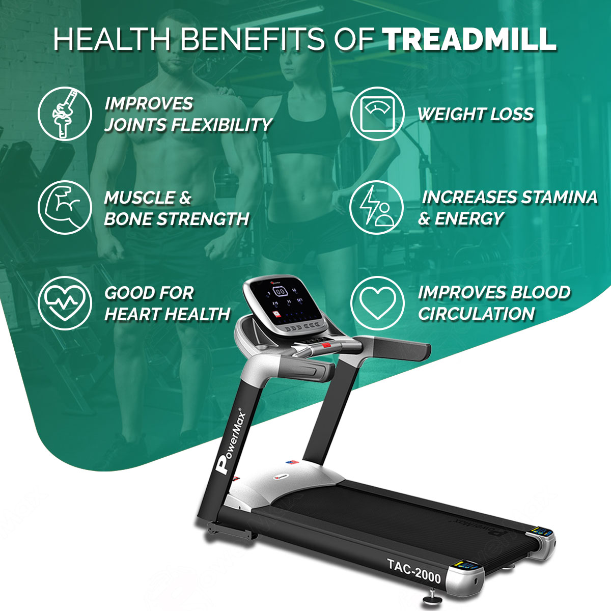 TAC-2000 Commercial Motorized AC Treadmill