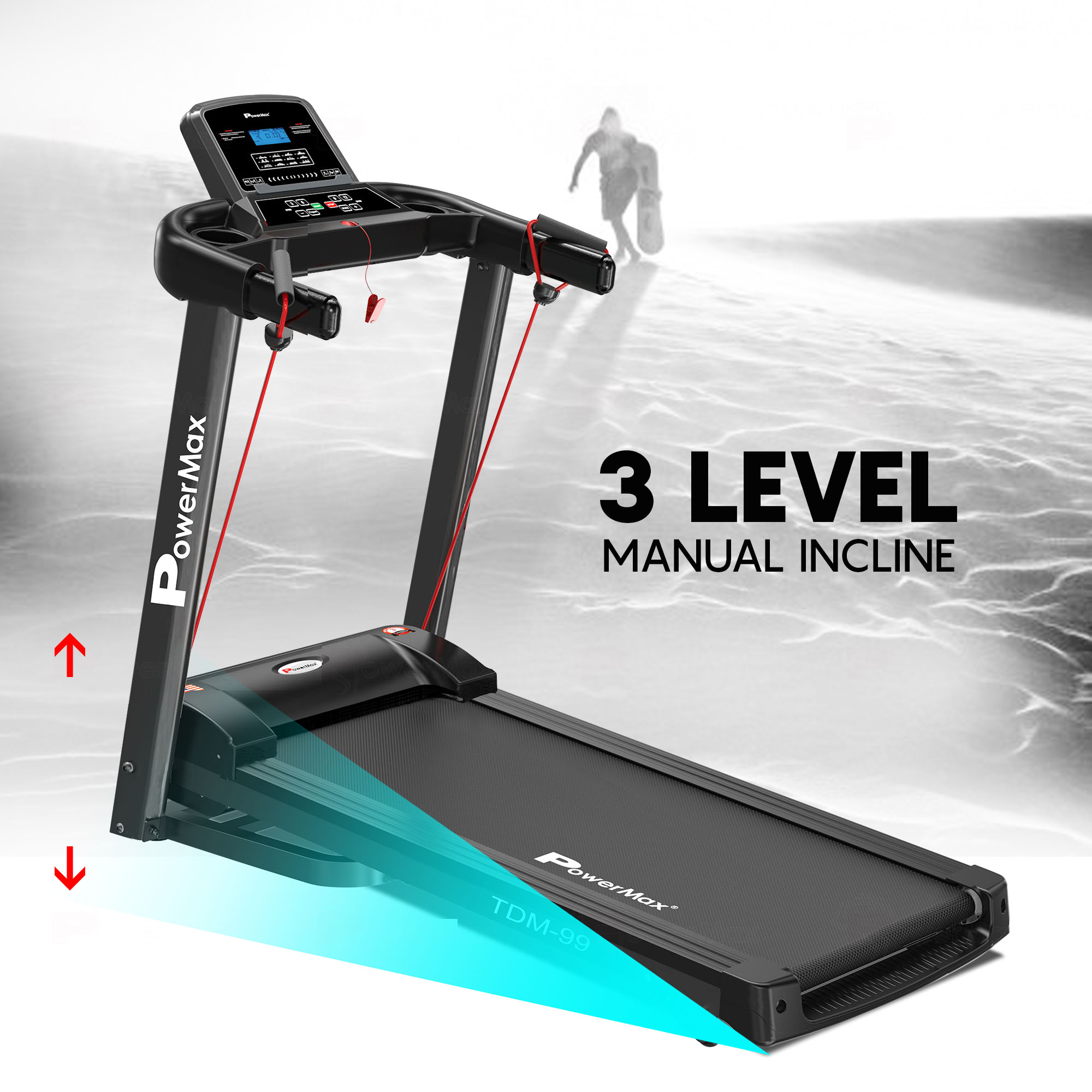 TDM-99 Motorized Treadmill with Twister and Resistance Ropes