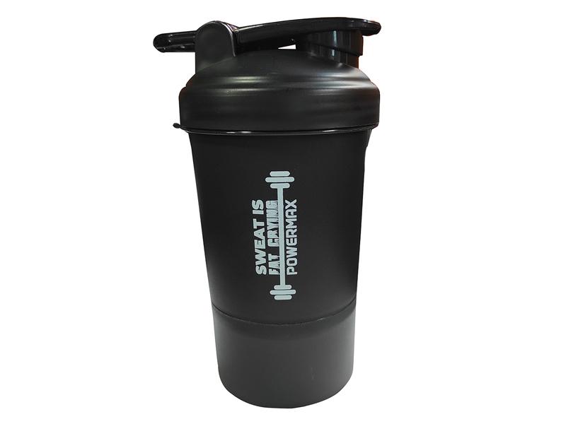 <b>PSB-4S-B</b> (400ml) Protein Shaker Bottle with Single Storage