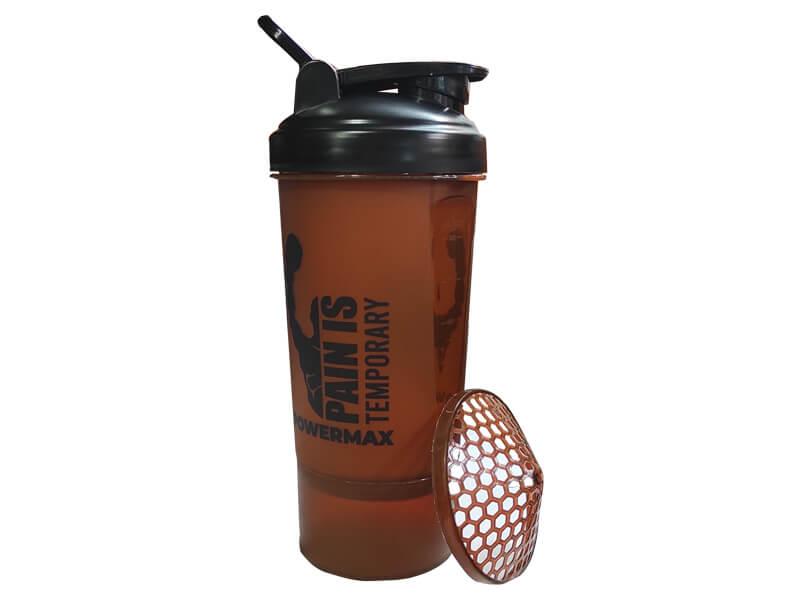 <b>PSB-6S-C</b> (600ml) Protein Shaker Bottle with Single Storage