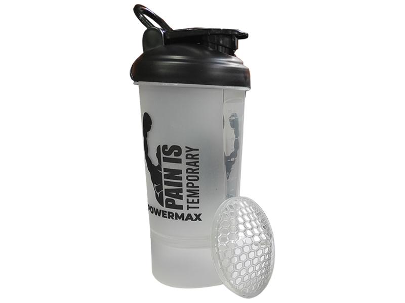 <b>PSB-6S-W</b> (600ml) Protein Shaker Bottle with Single Storage