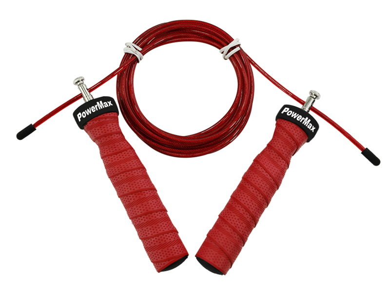 <b>JS-3 (Red)</b> Exercise Speed Jump Rope With Adjustable Cable