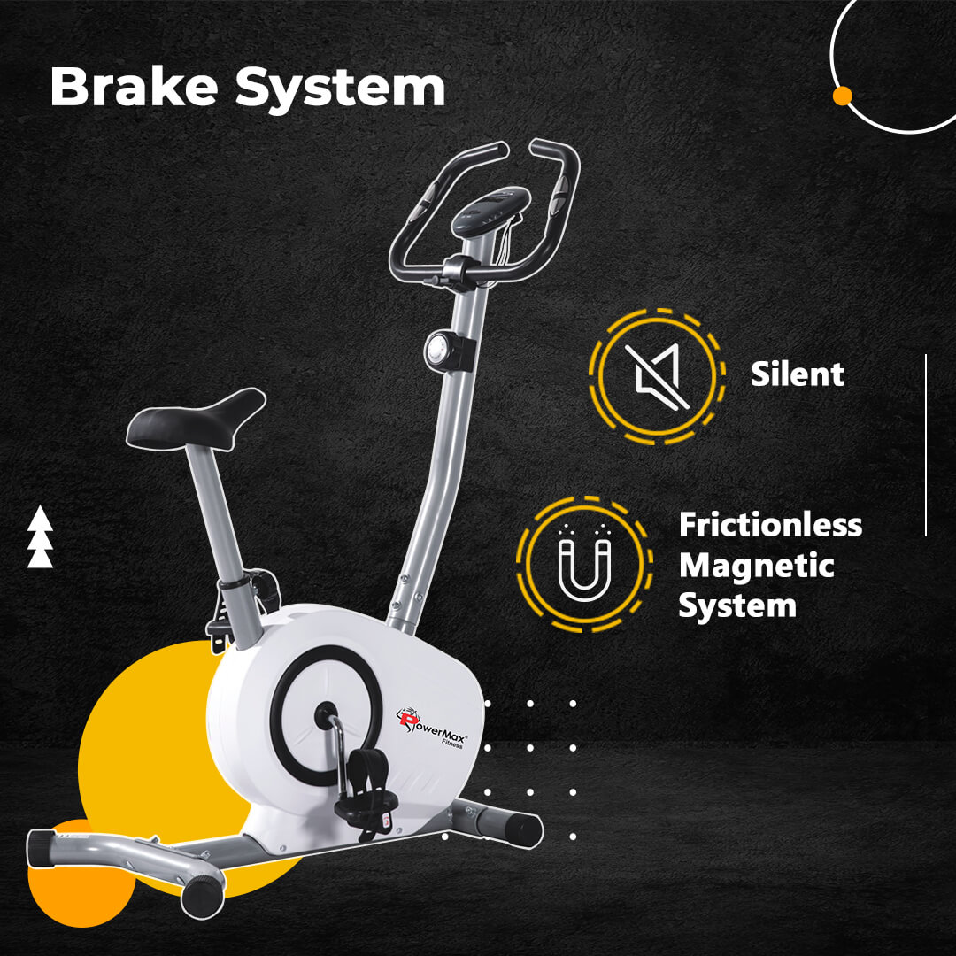 BU-515 Magnetic Upright Bike with LCD Display
