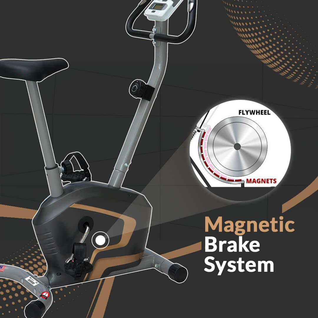 BU-400 Magnetic Upright Bike with iPad holder