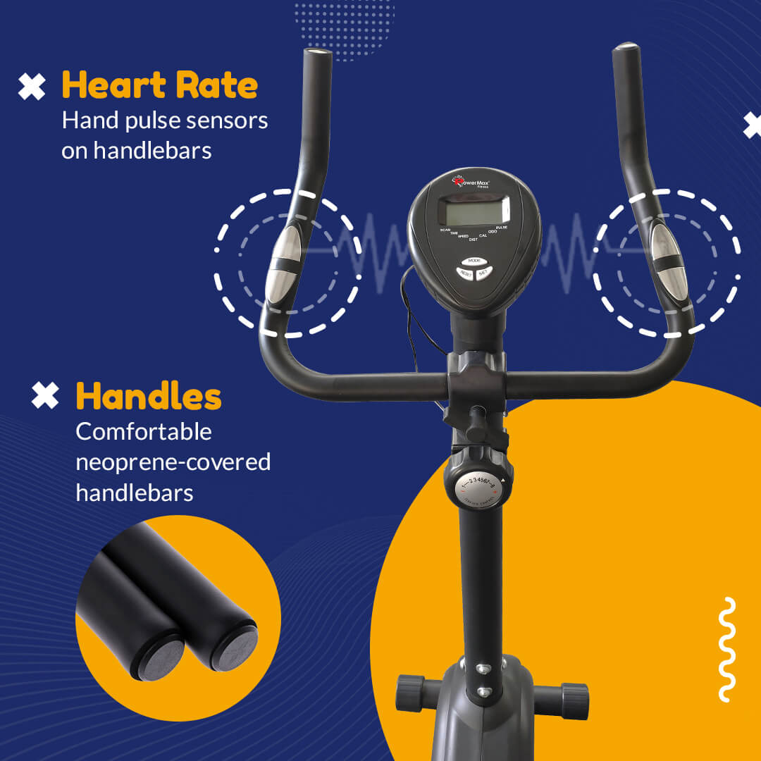 BU-510 Magnetic Upright Bike with LCD Display