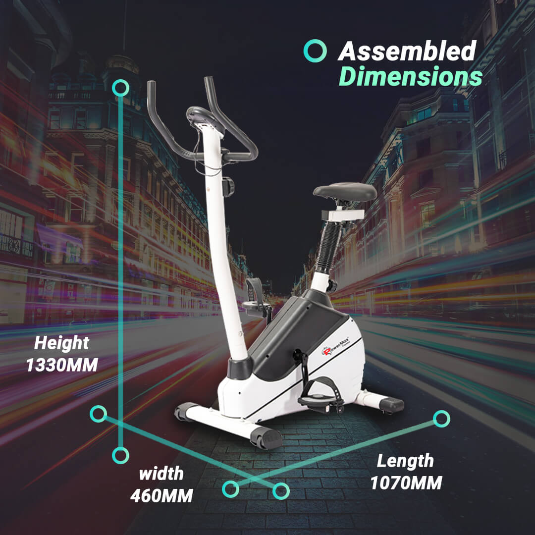 BU-610 Magnetic Upright Bike with LCD Display