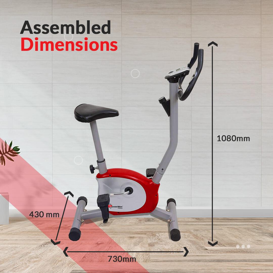 PowerMax Fitness BU-200 Magnetic Upright Bike for Home Use
