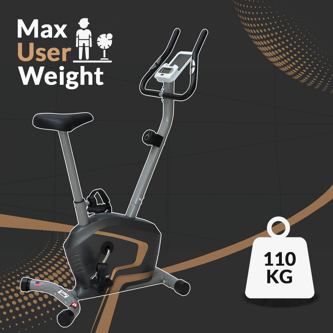 PowerMax Fitness BU-400 Magnetic Upright Exercise Bike