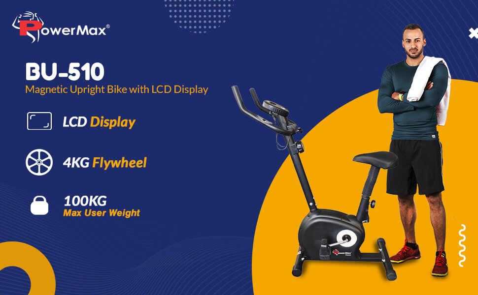 PowerMax Fitness BU-510 Magnetic Upright Exercise Bike