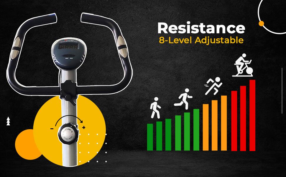 PowerMax Fitness BU-515 Magnetic Upright Exercise Bike