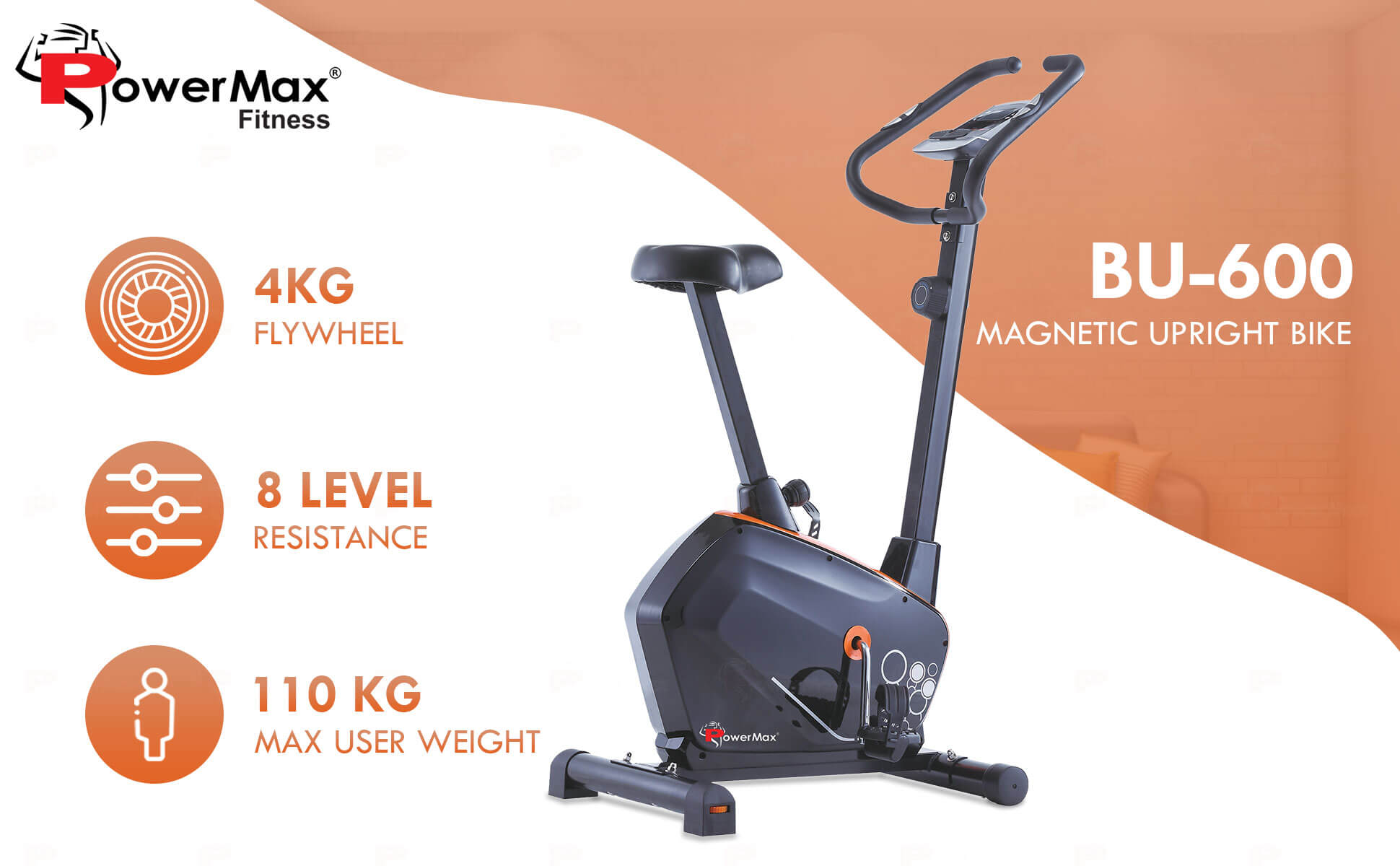 magnetic upright exercise bike for home use
