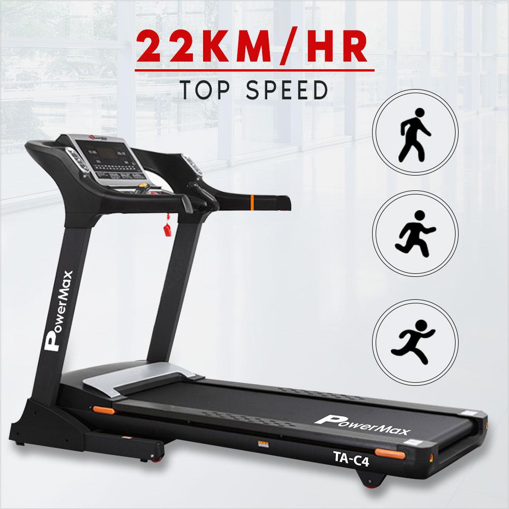 PowerMax Fitness TA-C4 Premium Commercial AC Motorized Treadmill