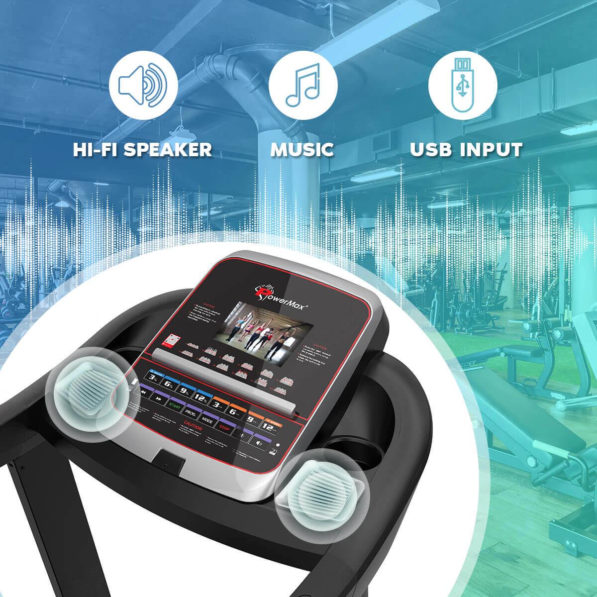 PowerMax TAC-1500 Commercial AC Motorized Treadmill