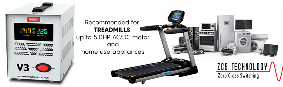 Vosta V3 Stabilizer - Designed and Engineered for Heavy Treadmills and Home Use Appliances