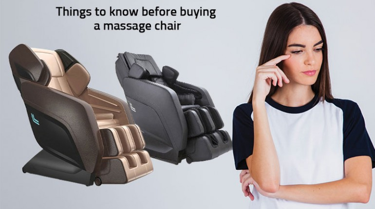 Things to know before buying a massage chair