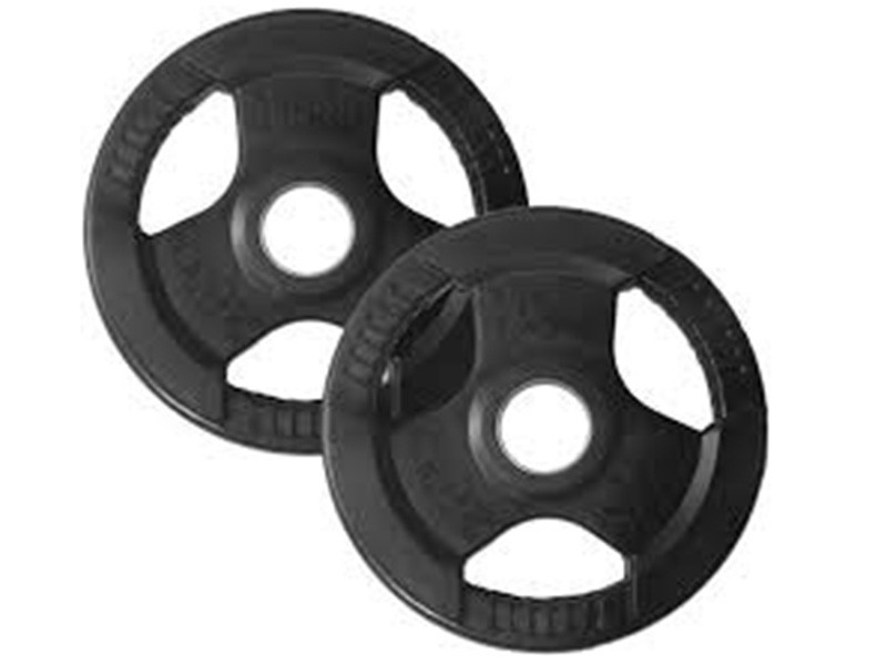 Rubber Coated Olympic (50mm) Plates - Black