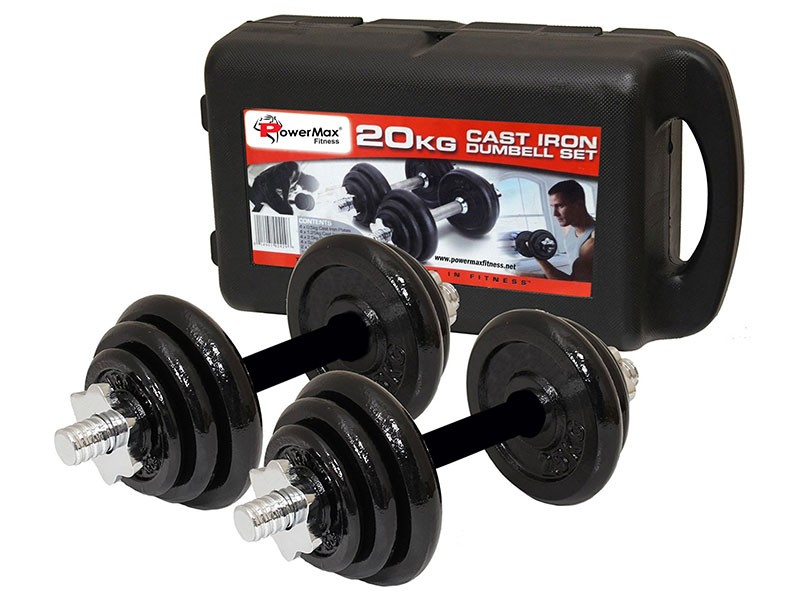<b>PDS-20Kg</b> Dumbbells Set Metal Plates + Dumbbell Rods Home Gym